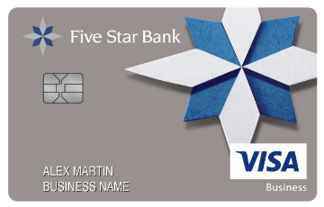 Sample card art for business credit cards.