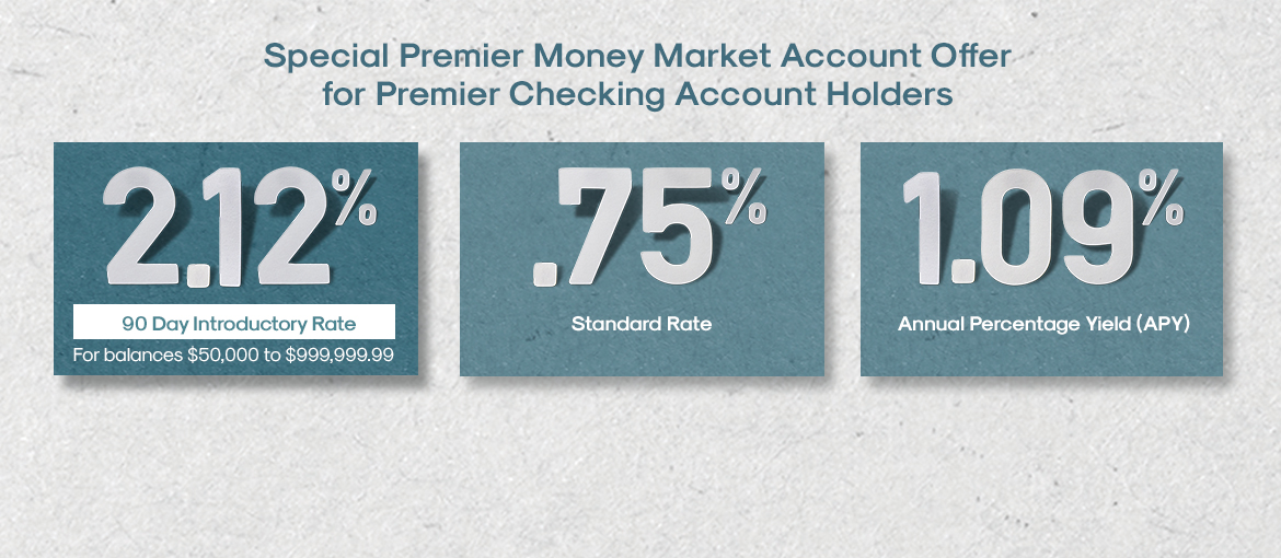 Special Premier Money Market Account Offer for Premier Checking Account Holders