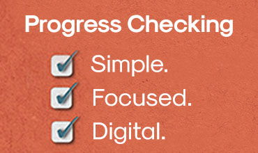 AD- Progress Checking. Simple. Focused. Digital.