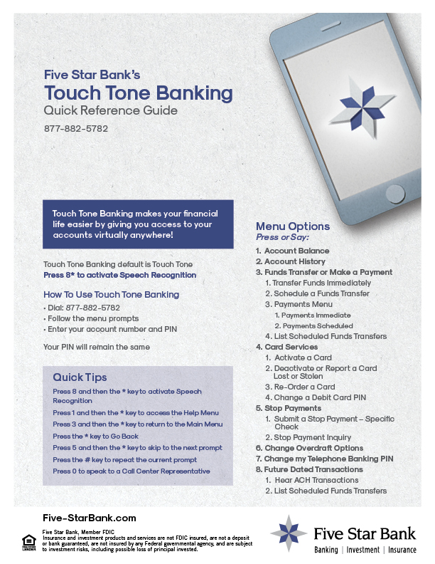 Important Documents & Forms › Five Star Bank