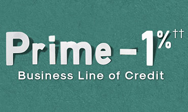 Prime -1%†† Business Line of Credit