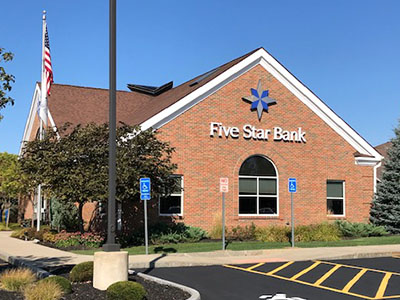 Exterior of Five Star Bank branch